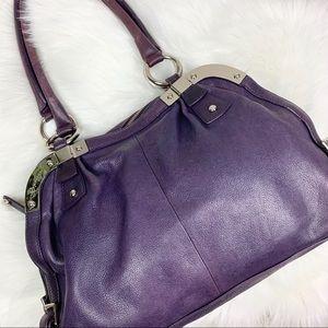 B. Makowsky Pebble Leather Purse Handbag